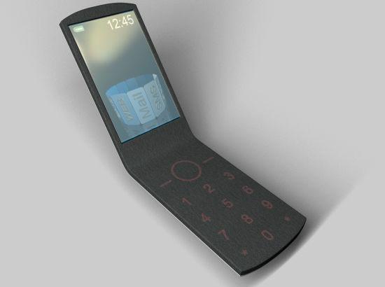 浑然一体的皮毡手机
