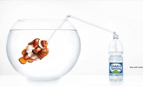 带来无尽清凉的矿泉水广告(一)