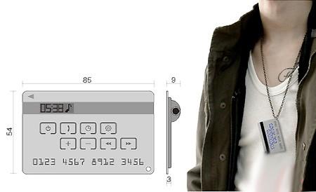 信用卡MP3播放器