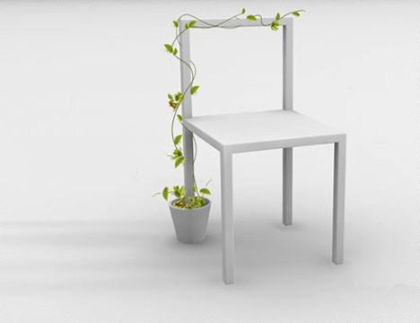 花盆上的椅子