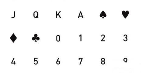 扑克牌一样的符号