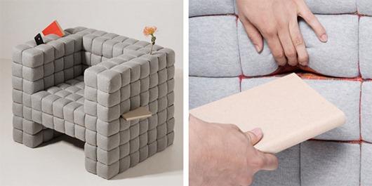 像素模块组成的创意沙发