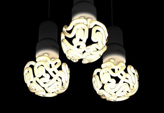 大脑形状的节能灯泡