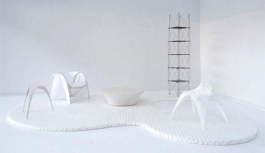 可持续原材料制作的房间