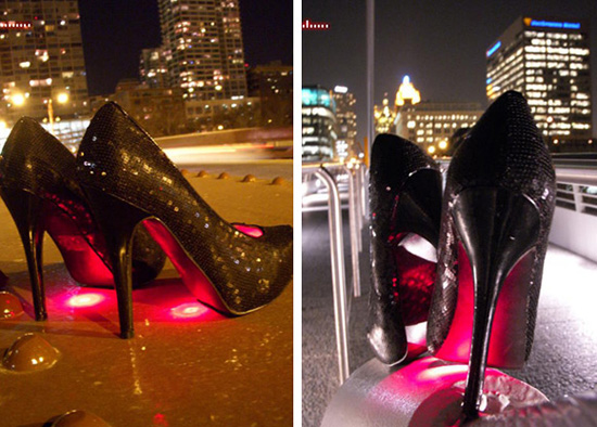 发光的高跟鞋