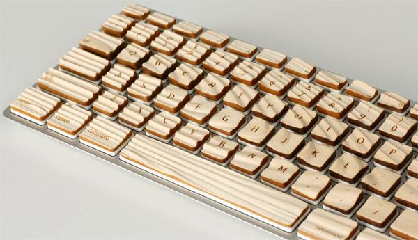 摆脱俗套 手感极好的木质键盘