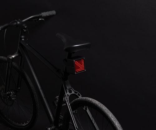 自行车上的表情灯
