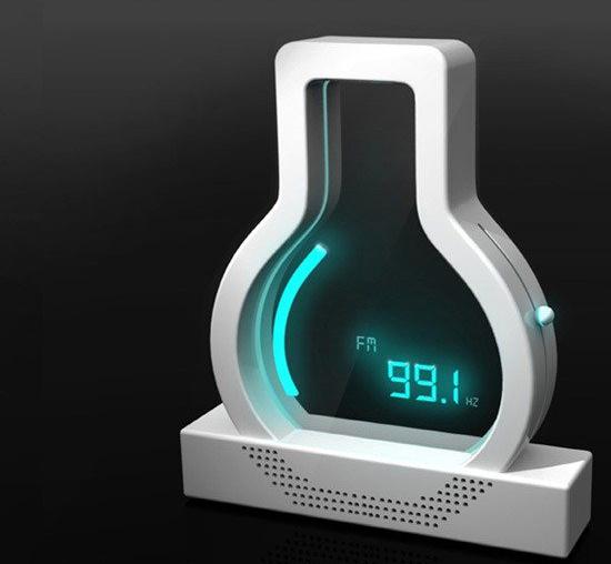 概念设计的灯泡收音机