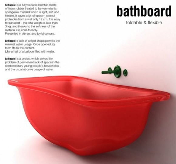 折叠浴缸 空间还可以这样节约