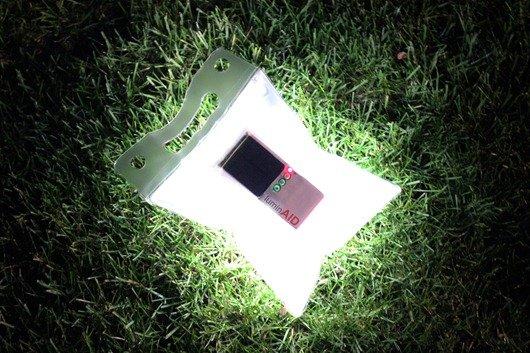 太阳能充电发光灯
