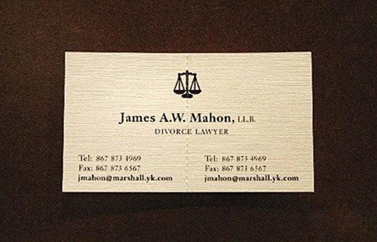 离婚律师的名片