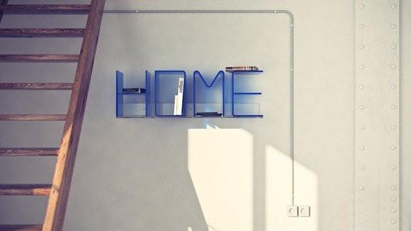 HOME字母组合的置物架
