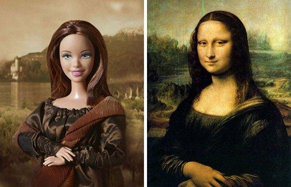 蒙娜丽莎版芭比娃娃