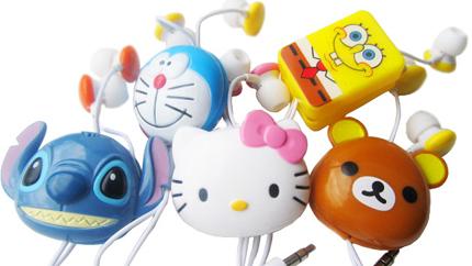 各种卡通形象耳机