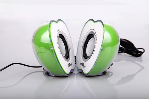 苹果形状的七彩音箱(绿色)
