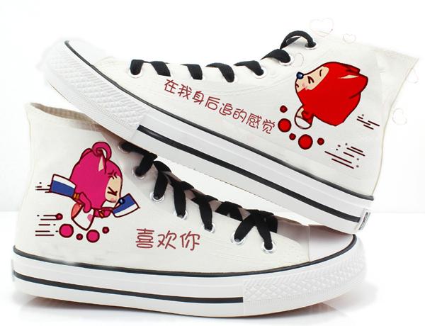 手绘情侣帆布鞋(四)