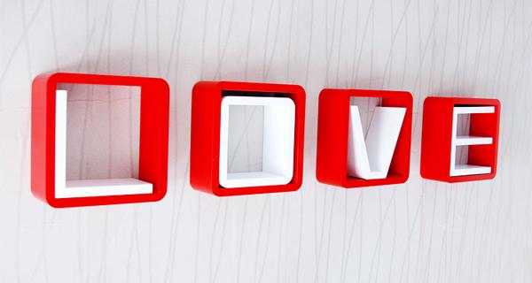创意格子壁挂架红白组合(二)