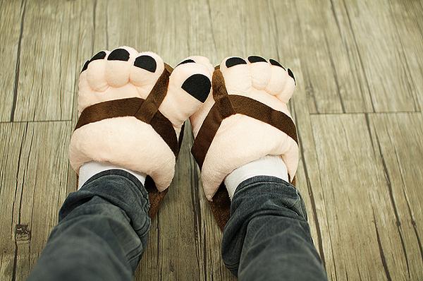 超强保暖大脚丫拖鞋