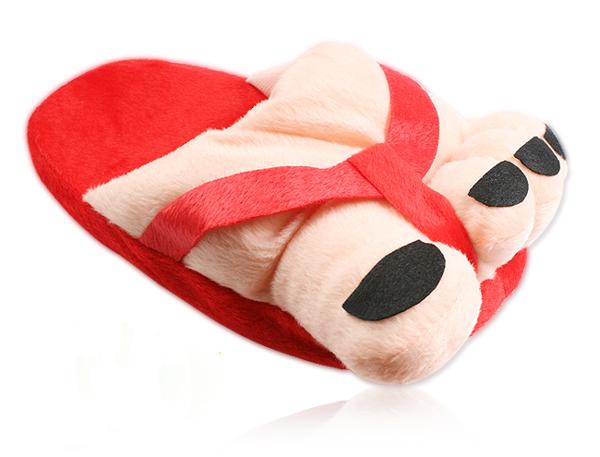 大脚丫拖鞋红色