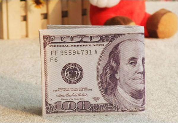 美金图案钱包