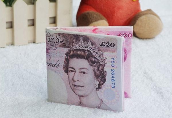 英镑图案钱包
