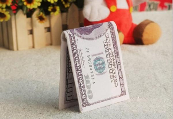美元图案钱包