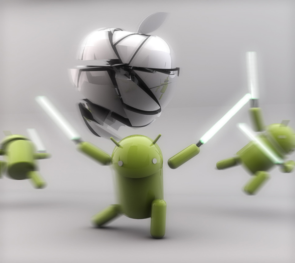 Android VS Apple Lightsaber 4