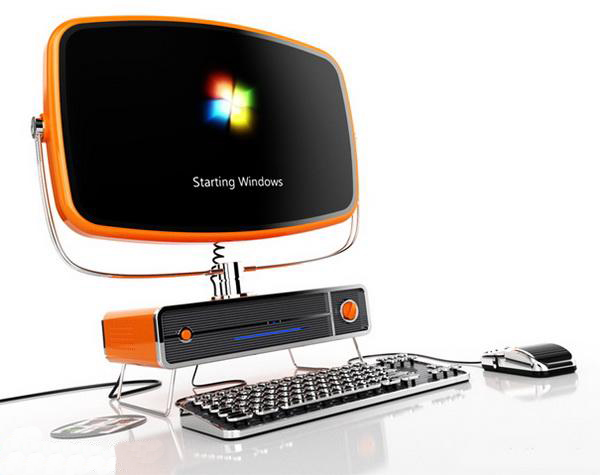 复古风格的电脑