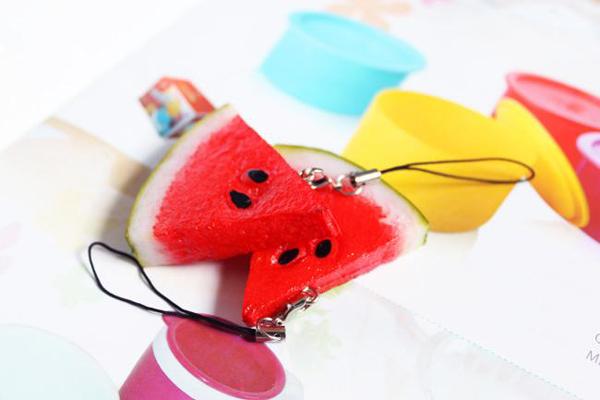 西瓜装饰手机链(二)