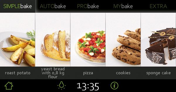 烤箱上图片显示的烹饪类型