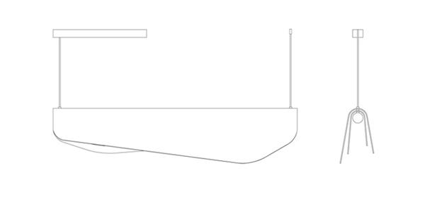海藻吊灯平面图