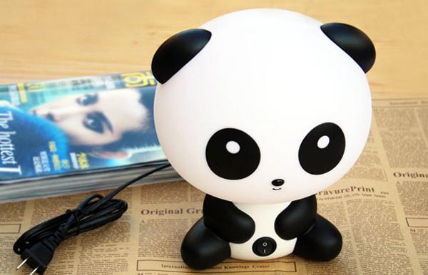 触摸语音熊猫台灯