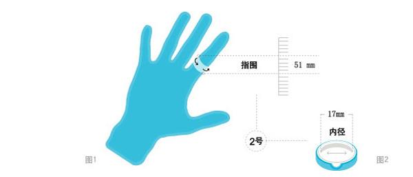 单身戒指尺寸
