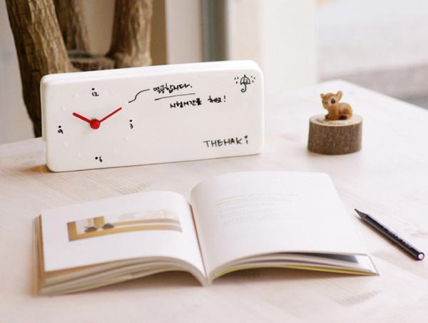 Memo Clock 陶瓷记事台钟