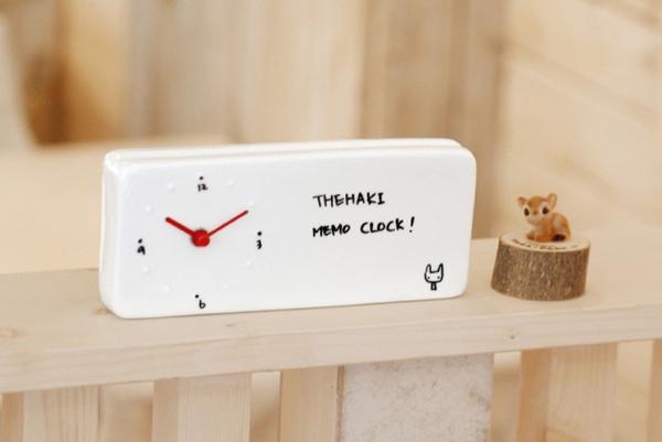 Memo Clock 备忘录陶瓷台钟