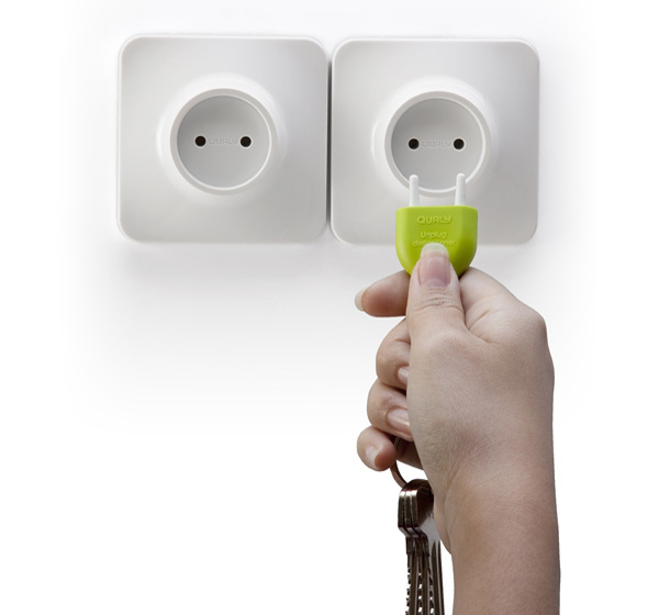 不带电的插头插座钥匙链