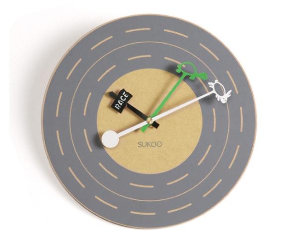 龟兔赛跑样式的时钟(带跑道)
