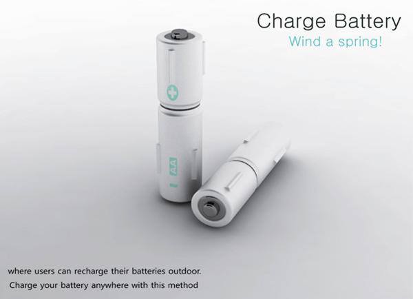 旋转发条式概念充电电池
