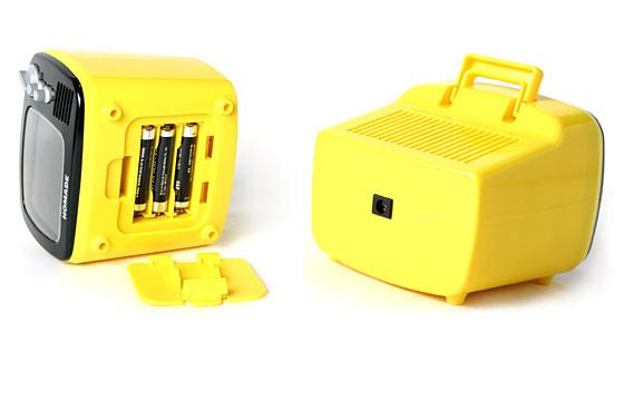 迷你小电视机闹钟电池