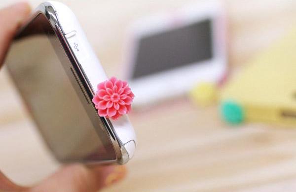 花朵样式的耳机孔防尘塞