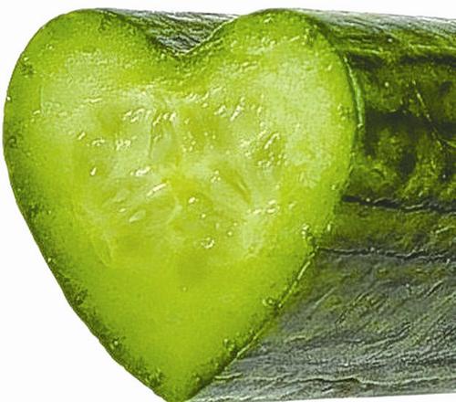 心形的黄瓜平面