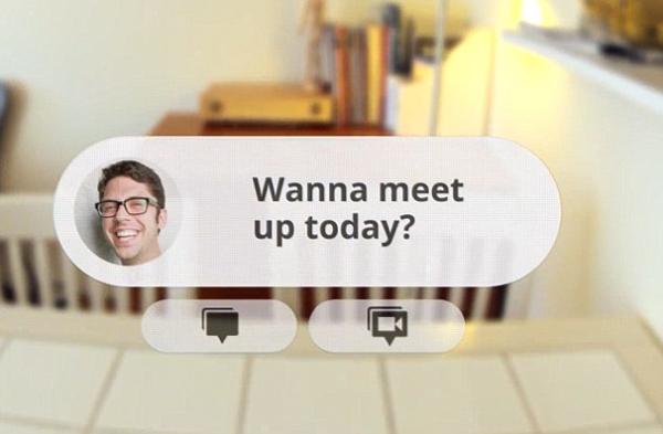 谷歌智能眼镜显示