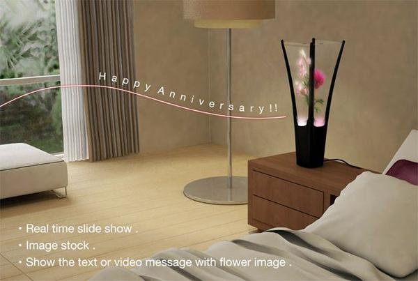 数字概念虚拟花瓶