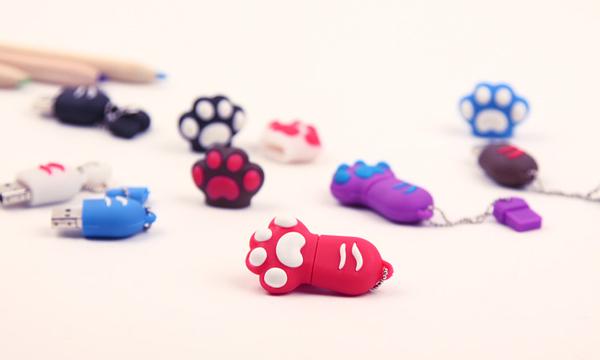猫爪样式个性U盘粉红色及多色