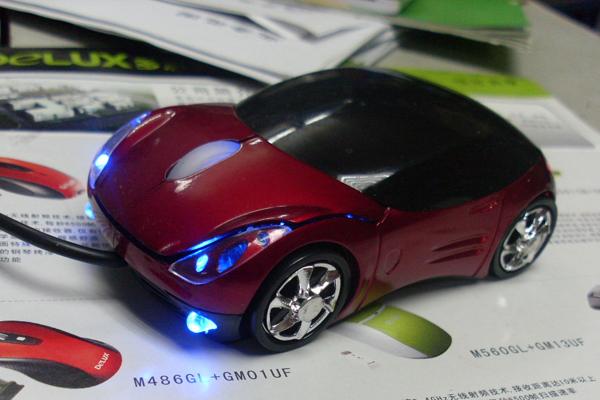 法拉利跑车样式的鼠标亮灯