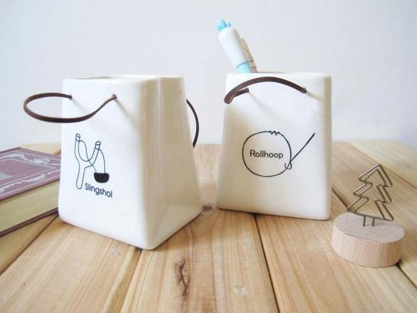 陶瓷纸带笔桶