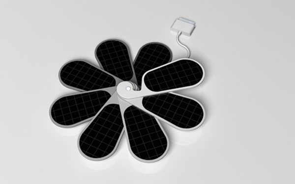 iPetals 为iPhone量身的太阳能充电器