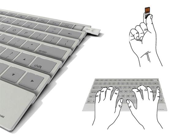 扇子样式的折叠键盘(二)