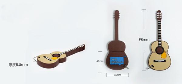 吉它样式的创意U盘规格