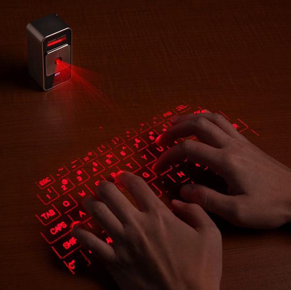 激光虚拟投影键盘演示